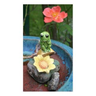 Tarjeta de visita de pensamiento de la rana