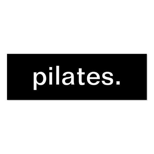 Tarjeta de visita de Pilates