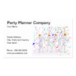 Tarjeta de visita de Planner Company del fiesta