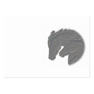 Tarjeta de visita de plata de los caballos