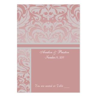Tarjeta de visita de plata y rosada de Placecard d