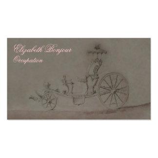 Tarjeta de visita de princesa Carriage