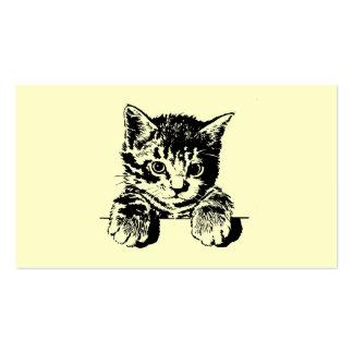Tarjeta de visita de PURRfection del gato