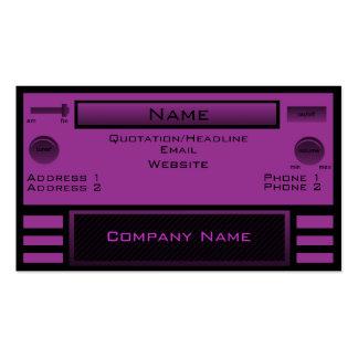 Tarjeta de visita de radio retra, púrpura