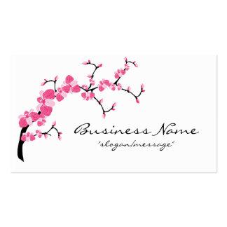Tarjeta de visita de rama de árbol de la flor de c