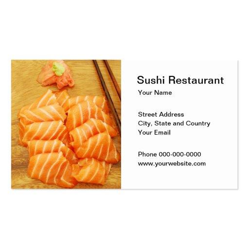 Tarjeta de visita de restaurante de sushi