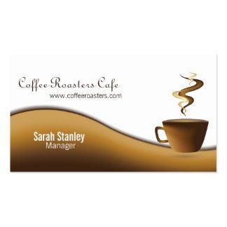 Tarjeta de visita de restaurante del café del café