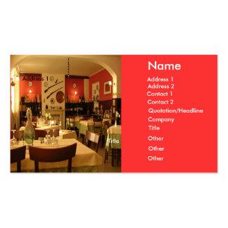 Tarjeta de visita de restaurante