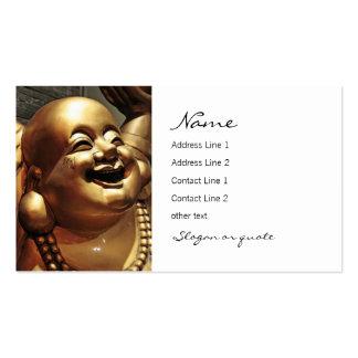 Tarjeta de visita de risa de Buda
