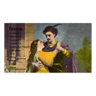 Tarjeta de visita de Romeo y de Juliet