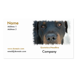 Tarjeta de visita de Rottweiler