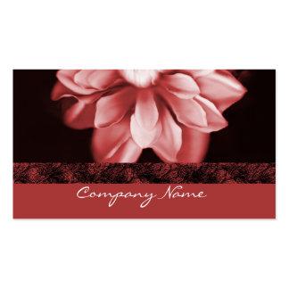 Tarjeta de visita de rubíes de la floración