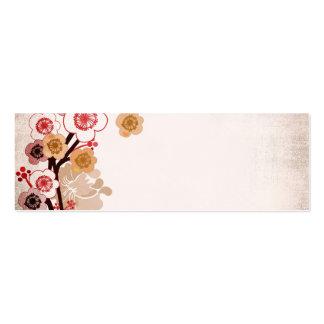 Tarjeta de visita de Sakura del vintage
