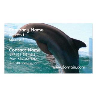 Tarjeta de visita de salto del delfín