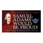 Tarjeta de visita de Samuel Adams