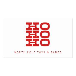 Tarjeta de visita de Santa Ho Ho Ho (estilo de la