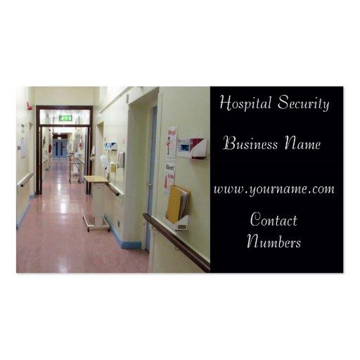 Tarjeta de visita de seguridad del hospital