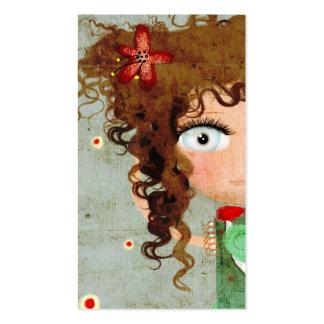 Tarjeta de visita de señora Beautiful Eye Hair Gru