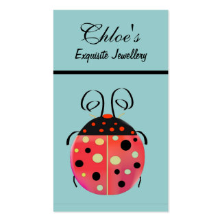 Tarjeta de visita de señora Bug Jewellery