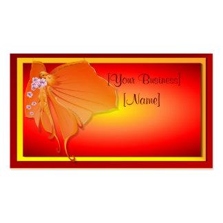Tarjeta de visita de señora Butterfly de Sun