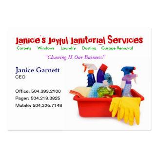Tarjeta de visita de servicio de limpieza