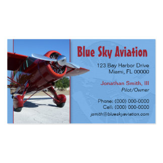 Tarjeta de visita de servicios de la aviación