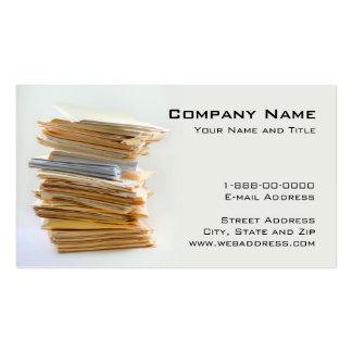 Tarjeta de visita de servicios de la contabilidad