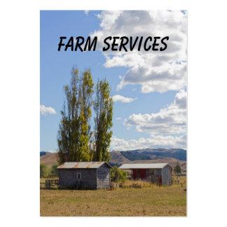 Tarjeta de visita de servicios de la granja
