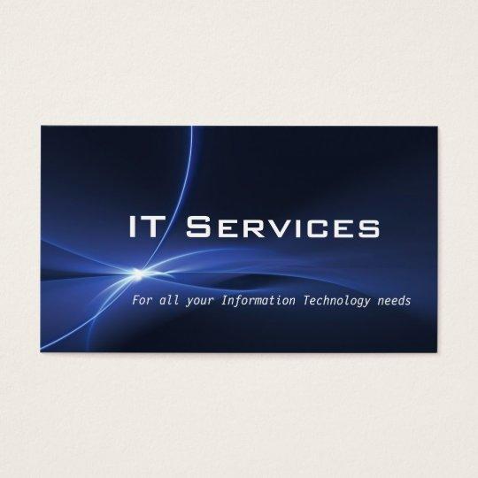 Tarjeta de visita de servicios de la tecnología de
