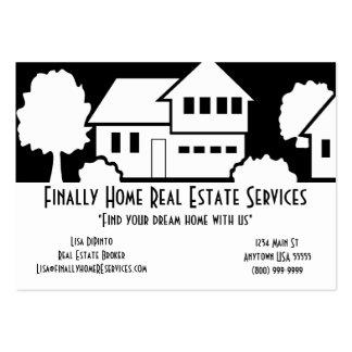 Tarjeta de visita de servicios de las propiedades
