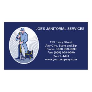 Tarjeta de visita de servicios de limpieza del lim