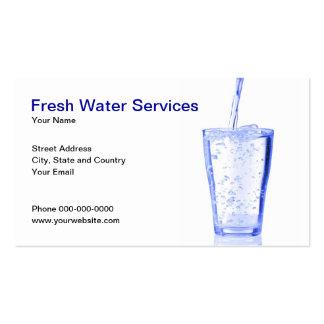Tarjeta de visita de servicios del agua