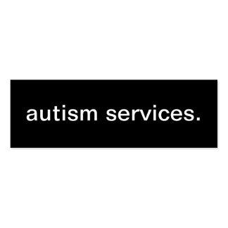 Tarjeta de visita de servicios del autismo