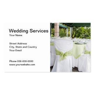 Tarjeta de visita de servicios del boda