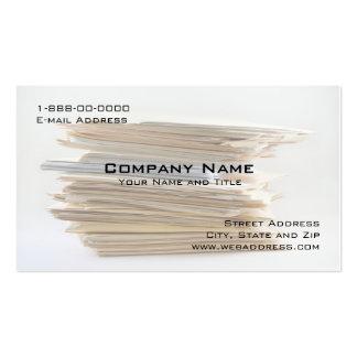 Tarjeta de visita de Servies de la contabilidad