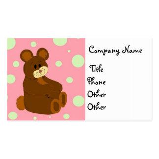 Tarjeta de visita de Teddybear