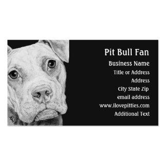 Tarjeta de visita de Terrier de pitbull (gris) -