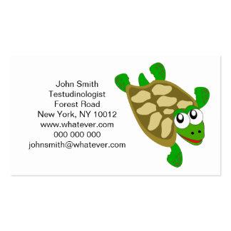 Tarjeta de visita de Testudinologist de la tortuga