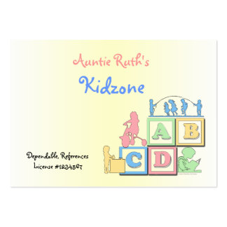 Tarjeta de visita de tía Ruth Kidzone Childcare
