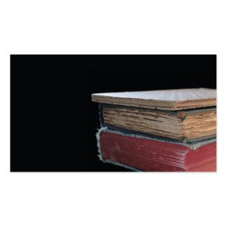 tarjeta de visita de tres libros viejos