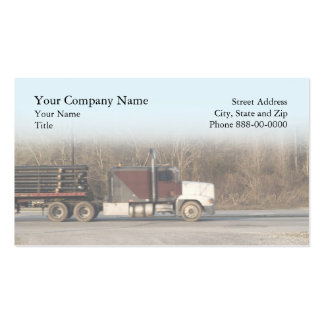 Tarjeta de visita de trueque del camionero