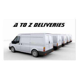 Tarjeta de visita de Van de entrega