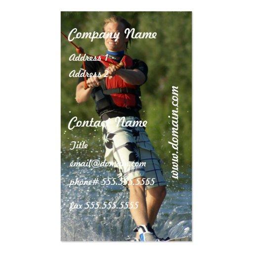 Tarjeta de visita de Wakeboarding del lago