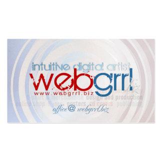 tarjeta de visita de Webgrrl.biz