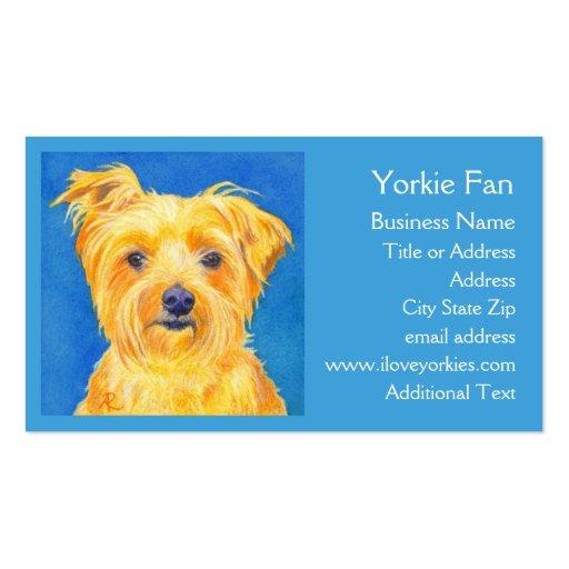 """Tarjeta de visita de Yorkie - """"Sammy """""""