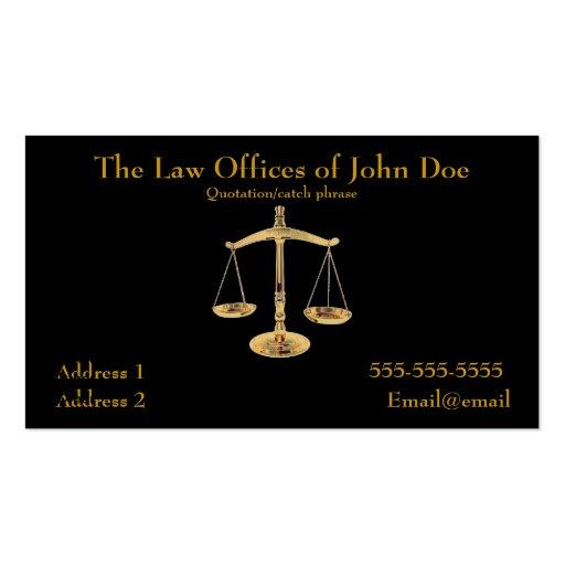 Tarjeta de visita del abogado