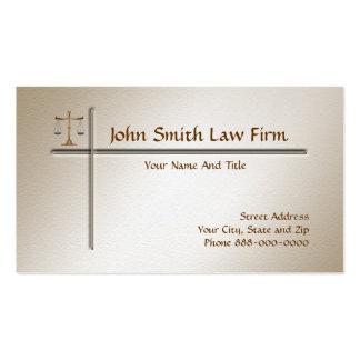 Tarjeta de visita del abogado del abogado