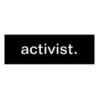 Tarjeta de visita del activista