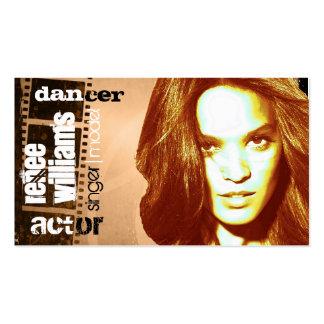 tarjeta de visita del actor (contacto a modificar