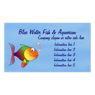 Tarjeta de visita del acuario de los pescados